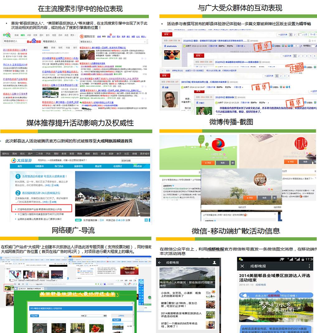 网络公关项目传播效果图
