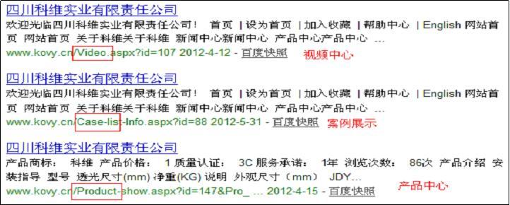 网站收录页面在搜索引擎中的呈现表现